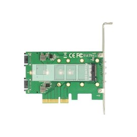 DeLOCK PCI Express Card > 3 x M.2 Slot - Speicher-Controller - M.2 - M.2 Card / SATA 6Gb/s Low Profile - PCIe 3.0 x4 Produktbild