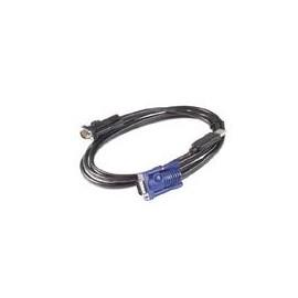 APC - Tastatur- / Video- / Maus- (KVM-) Kabel - USB, HD-15 (VGA) bis HD-15 (VGA) - 3.66 m Produktbild