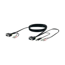 Belkin SOHO KVM Replacement Cable Kit - Tastatur- / Video- / Maus- / Audio-Kabel - USB, HD-15 (VGA), Stereo Produktbild