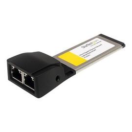 StarTech.com 2 Port Gigabit Ethernet ExpressCard - Dual Port Laptop Netzwerkkarte - Netzwerkadapter - Produktbild