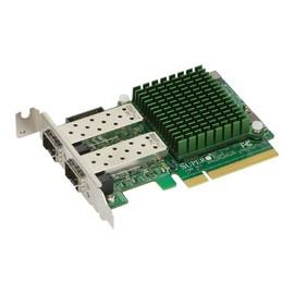 Supermicro Add-on Card AOC-STGN-I2SF - Netzwerkadapter - PCIe 2.0 x8 Low-Profile - 10 Gigabit SFP+ x 2 Produktbild