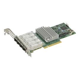 Supermicro Add-on Card AOC-STG-I4S - Netzwerkadapter - PCIe 3.0 x8 Low-Profile - 10 Gigabit SFP+ x 4 Produktbild