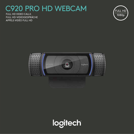 Webcam C920 USB Full HD 1080dpi 1920x1080 15MP Logitech 960-001055 Produktbild