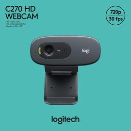 Webcam C270 USB HD 720dpi 1280x720 3MP Logitech 960-001063 Produktbild