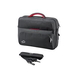 """Fujitsu Prestige Case 15 - Notebook-Tasche - 40.6 cm (16"""") - Schwarz / Rot Produktbild"""