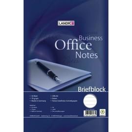 Briefblock A4 Lin.21 liniert 50Blatt 70g holzfrei weiß Landré 100050263 Produktbild