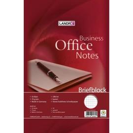 Briefblock A4 Lineatur 22 kariert 50Blatt 70g holzfrei weiß Landré 100050264 Produktbild