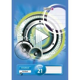Briefblock 4-fach Lochung A4 Lin.21 liniert 50Blatt 70g holzfrei weiß Landré 100050449 Produktbild