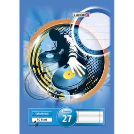Briefblock 4-fach Lochung Rand links+rechts A4 Lin.27 liniert 50Blatt 70g holzfrei weiß Landré 10005454 Produktbild