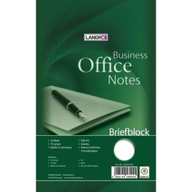 Briefblock Work A5 blanko 50Blatt 70g holzfrei weiß Landré 100050267 Produktbild