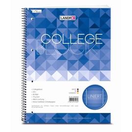 Collegeblock 4-fach Lochung A4 liniert Rand links+rechts 80Blatt 70g holzfrei weiß Landré 100050063 Produktbild