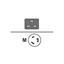 HPE - Stromkabel - IEC 60320 C19 bis NEMA L6-20 (M) - 2.5 m Produktbild