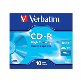 Verbatim DataLife - 10 x CD-R - 800 MB (90min) - Jewel Case (Schachtel) Produktbild