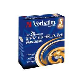 Verbatim DataLifePlus - 5 x DVD-RAM - 9.4 GB 3x Produktbild