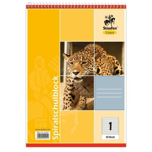 Spiralschulblock A5 Lineatur 1 40Blatt 70g holzfrei weiß Staufen-Demmler 42201 Produktbild Additional View 2 L