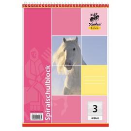 Spiralschulblock A5 Lineatur 3 40Blatt 70g holzfrei weiß Staufen 734042203 Produktbild