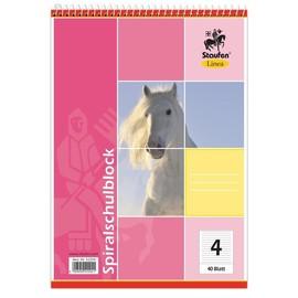 Spiralschulblock A5 Lineatur 4 liniert 40Blatt 70g holzfrei weiß Staufen-Demmler 42204 Produktbild