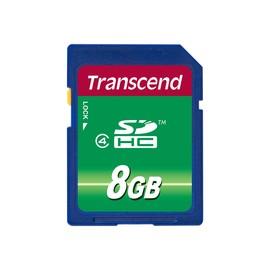 Transcend - Flash-Speicherkarte - 8 GB - Class 4 - SDHC Produktbild