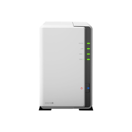 Synology Disk Station DS218j - NAS-Server - 2 Schächte - SATA 6Gb/s - RAID 0, 1, JBOD - RAM 512 MB Produktbild