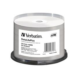 Verbatim DataLifePlus Professional - 50 x CD-R - 700 MB 52x - breite Thermodruckfläche - Spindel Produktbild