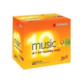 Verbatim Live It! - 10 x CD-R (80 Min) 16x - Jewel Case (Schachtel) Produktbild