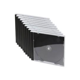 LogiLink - Behälter CD-Aufbewahrung - Kapazität: 1 CD/DVD - Schwarz, durchsichtig (Packung mit 10) Produktbild