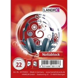 Spiralnotizblock Work A7 kariert 40Blatt 70g holzfrei weiß Landré 100302811 Produktbild