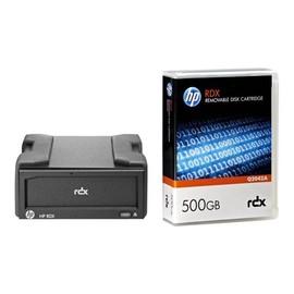 HPE RDX Removable Disk Backup System - Laufwerk - RDX - SuperSpeed USB 3.0 - extern - mit 500-GB-Kassette Produktbild