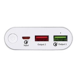 Navilock - Powerbank - 10200 mAh - 3 A - Quick Charge 3.0 - 2 Ausgabeanschlussstellen (2 x USB) Produktbild