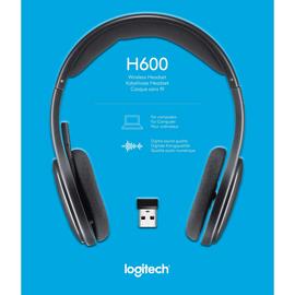 Headset H600 Wireless Sterero schwarz Logitech 981-000342 Produktbild