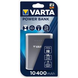USB-Powerbank mit 2 Ausgängen 5V 10400mAh Lithium-Ion Akku grau Varta 57961 Produktbild