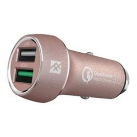 ifrogz UniqueSync Premium - Auto-Netzteil - 3 A - Quick Charge 3.0 - 2 Ausgabeanschlussstellen (USB) - Produktbild