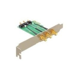 DeLOCK Mini PCI Express > PCI Express x1 + 3 RP-SMA Ports - Riser Card Produktbild