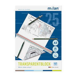 Transparentblock A3  25Blatt 80/85g Milan 244/3 Produktbild