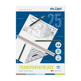Transparentblock A4  25Blatt 80/85g Milan 244/4 Produktbild