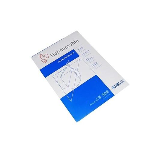 Transparentblock Diamant Spezial Glatt A4 50Blatt 80/85g Hahnemühle 10622401 Produktbild Front View L