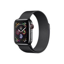 Apple Watch Series 4 (GPS + Cellular) - 40 mm - tiefschwarz Edelstahl - intelligente Uhr mit Milanaise Armband - Produktbild