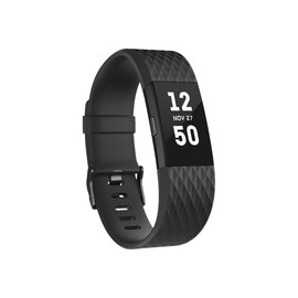 Fitbit Charge 2 - Waffenmetall - Aktivitätsmesser mit Band - schwarz - L - einfarbig Produktbild