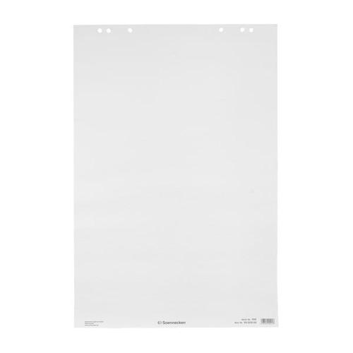 Flipchartblock 20Blatt holzfrei 68x99cm weiß blanko/blanko Soennecken 01137 (PACK=5 STÜCK) Produktbild Front View L