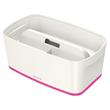Aufbewahrungsbox MyBox mit Deckel für A5 318x128x191mm 5Liter weiß/pink Kunststoff Leitz 5229-10-23 Produktbild Additional View 1 S