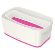 Aufbewahrungsbox MyBox mit Deckel für A5 318x128x191mm 5Liter weiß/pink Kunststoff Leitz 5229-10-23 Produktbild Additional View 2 S