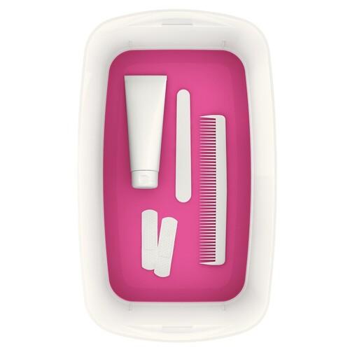 Aufbewahrungsbox MyBox mit Deckel für A5 318x128x191mm 5Liter weiß/pink Kunststoff Leitz 5229-10-23 Produktbild Additional View 3 L