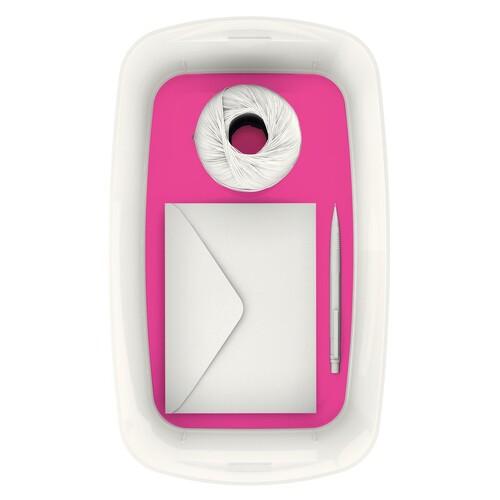 Aufbewahrungsbox MyBox mit Deckel für A5 318x128x191mm 5Liter weiß/pink Kunststoff Leitz 5229-10-23 Produktbild Additional View 5 L