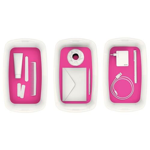 Aufbewahrungsbox MyBox mit Deckel für A5 318x128x191mm 5Liter weiß/pink Kunststoff Leitz 5229-10-23 Produktbild Additional View 7 L
