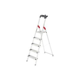 Stehleiter PROFILINE S 150 XXL 5-stufig silber Aluminium Hailo 8815-027 Produktbild