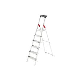 Stehleiter PROFILINE S 150 XXL 6-stufig silber Aluminium Hailo 8816-027 Produktbild