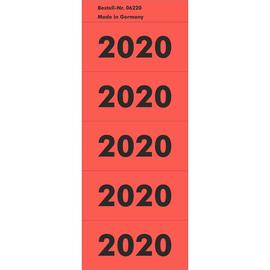 Jahreszahlenaufkleber 2020 rot selbstklebend 06220 (PACK=100 STÜCK) Produktbild