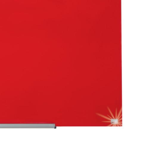 "Glas-Magnetboard Diamond Widescreen 45"" 56x100cm rot magnetisch Nobo 1905184 Produktbild Additional View 8 L"