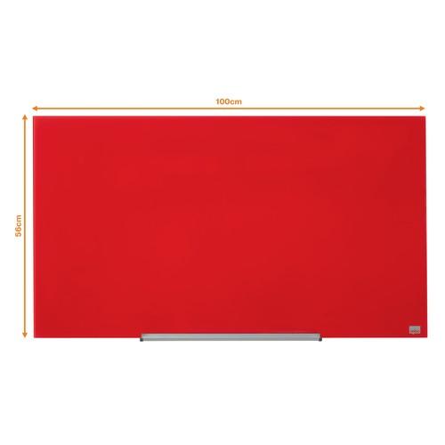 "Glas-Magnetboard Diamond Widescreen 45"" 56x100cm rot magnetisch Nobo 1905184 Produktbild Additional View 6 L"