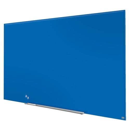 "Glas-Magnetboard Diamond Widescreen 85"" 106x188cm magnetisch blau Nobo 1905190 Produktbild Additional View 3 L"